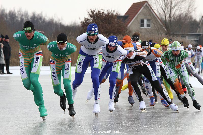 NK Marathon op natuurijs